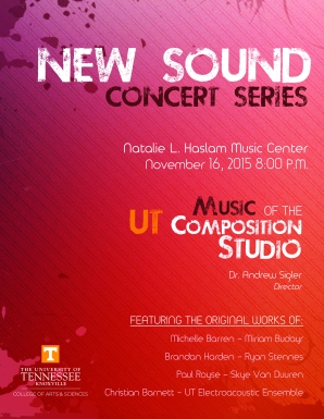New Sound Concert Poster Fall 2015